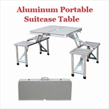 Aluminium Folding Portable Picnic Outdoor Camping Set Table + 4 Chairs