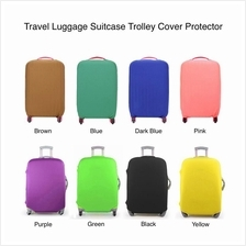 Travel Luggage Suitcase Trolley Protector Cover - Solid Color