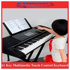 61 Key Multimedia Touch Control Electronic Keyboard Piano LCD Display