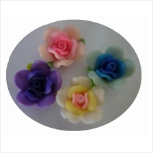 Polymer Clay Beads Flower -Rose Flower-30mm