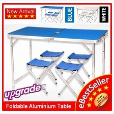 Portable Foldable Aluminium Camping Outdoor Booth Picnic 120x60 Table