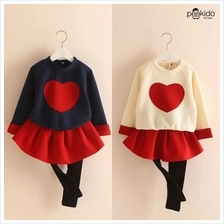 Kids Age 1  – 8 ~ Pounding Red Heart Top  & Pants ~ Pre-order)