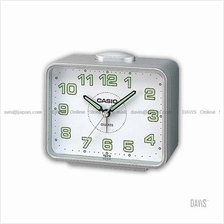 CASIO TQ-218-8 analogue wake up timer daily alarm snooze grey white