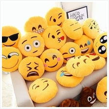 Buy 3 Free 1!13' WhatsApp Emoji Icon Pillows Yellow Round Cushion