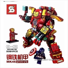 Lego Compatible IRON MAN MK46 HULK BUSTER Toy Set with minifigures