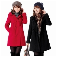 ** Fundeal ** Momo Warmy Winter Coat With Hood ~ Red/ Black/ Camel)