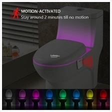 8 Colors Intelligent PIR Motion Sensor LED Lamp Toilet Night Light