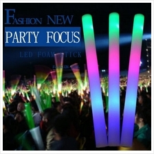 Light Led Flash Emitting Sponge Glow Stick Concert Party Disco Event