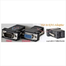 VGA DB15 to RJ45 Cat5e Cat6 Network Cable Video Extender Adapter UTP/STP
