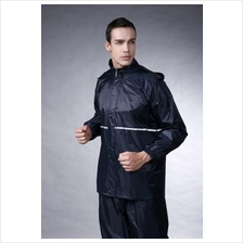 Motorcycle Split Ride Reflective Raincoat Coat With pants Thickening !