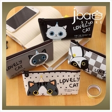 Lovely Cat Waterproof Pencil Case Stationery Storage Bag