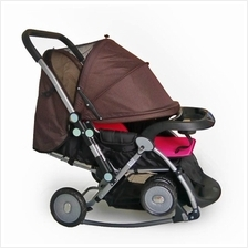 Deluxe Cradle Stroller Come With 4 Pcs Cushion Mat