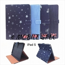 Apple iPad 2 3 4 Air 5 Jeans Leather Book Flip Case Cover Card Holder