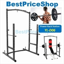 Smith Machine Bench Press Barbell Half Cage Squat Rack w/ Punching Bag