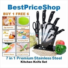 7 in 1 Stainless Steel Premium Kitchen Knife Knives Set (Buy 1 free 6)