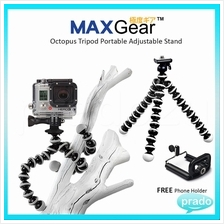 MAXGear Octopus Tripod Portable Adjustable Stand wt Phone Holder Clip