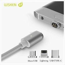 WSKEN Micro USB/ Lightning/ Type-C 2.4A Braided Magnetic Mini2 X-Cable