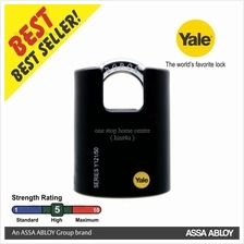 YALE Y121-50-132-1 50MM CLASSIC  SERIES BRASS SHROUDED PADLOCK 50MM
