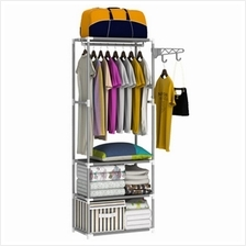 YJ-16 Stable Clothes Storage Rack Hanger (Grey)