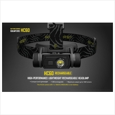 Nitecore HC60 Cree XM-L2 U2 LED Headlamp/Flashlight - 1000 Lumens