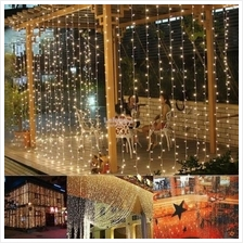 3mx3m 300 /6mx3m 600 LED String Curtain Light Christmas Party Decor