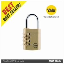 Yale Y150-40-130-1 40MM 4 DIGIT RESETTABLE BRASS PADLOCK