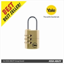 Yale Y150-22-120-1 22MM 3 DIGIT  RESETTABLE BRASS PADLOCK