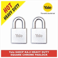 Yale 640CP 40MM KA-2 HEAVY DUTY SQUARE CHROME PADLOCK