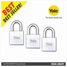 Yale 640CP 40MM / 650CP 50MM KA-3 HEAVY DUTY SQUARE CHROME PADLOCK