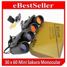 Day Night Vision Mini Sakura 30x60 High Definition Powerful Binocular
