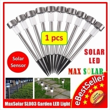 Stainless Steel Solar Powered Outdoor Garden Landscape Path LED Light