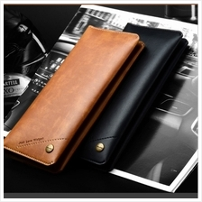 WUW premium Leather flip wallet diary phone multiple card slots universal size