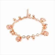 KITTY CHARMS BRACELET - ROSE GOLD