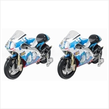 NewRay 1:12 Die-Cast Aprilia 250 GP Motorcycle White Color 2 Model Collection