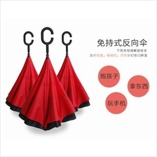 High quality c type handle double layer inverted umbrella
