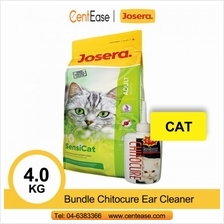 Josera Super Premium SensiCat Cat Food 4KG + Bundle Chitocure Ear Cleaner