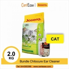 Josera Super Premium SensiCat Cat Food 2KG + Bundle Chitocure Ear Cleaner