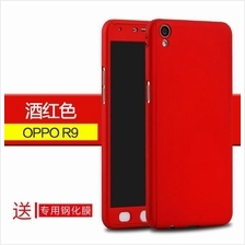 OPPO R9 F1 PLUS 360 FULL Protection Tempered Glass Case Cover
