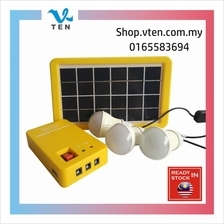 Outdoor/Indoor Solar LED Light System With 2 Bulbs Lamp Can Charge Mob