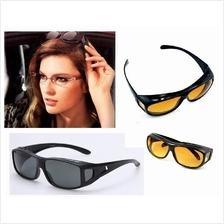HD NIGHT VISION DRIVING GLASSES Unisex 2in1 box