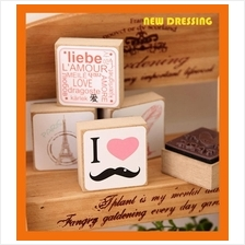 Big Square Rubber Stamp - Zakka/Diary/Photobook DIY