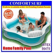 INTEX 56475 Inflatabe Swimming Family Pool + Backrest + Four Seats