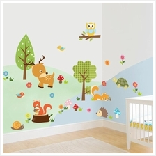Zoo Cartoon Vinyl Wall Stickers Removable Decorative Decals