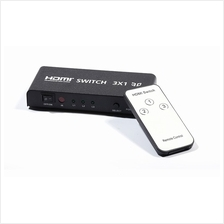 3 Port HDMI Switch Splitter 3D Full HD with Remote