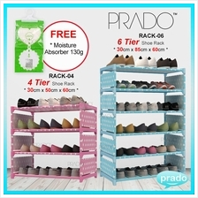 PRADO Korean High Quality Shoe Rack DIY Stackable Storage R04 or R06
