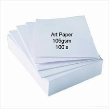 100pcs Art Paper 105gsm Double Side Glossy *Free Ship