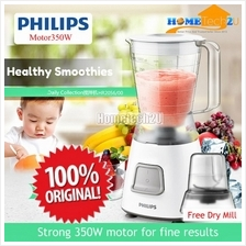 Philips Blender (350W, white) 1.25L Plastic Jar With Mill