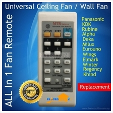 Ceiling Fan Wall Fan Remote For Rubine Deka KDK Pensonic Elmark Wings