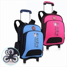 School Kid Backpack Shoulder Bag With Trolley Troli