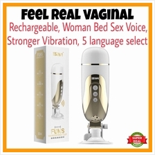 UPGRADE Feel Real Vaginal for Man Vibration Massager WOMAN SEX VOICE